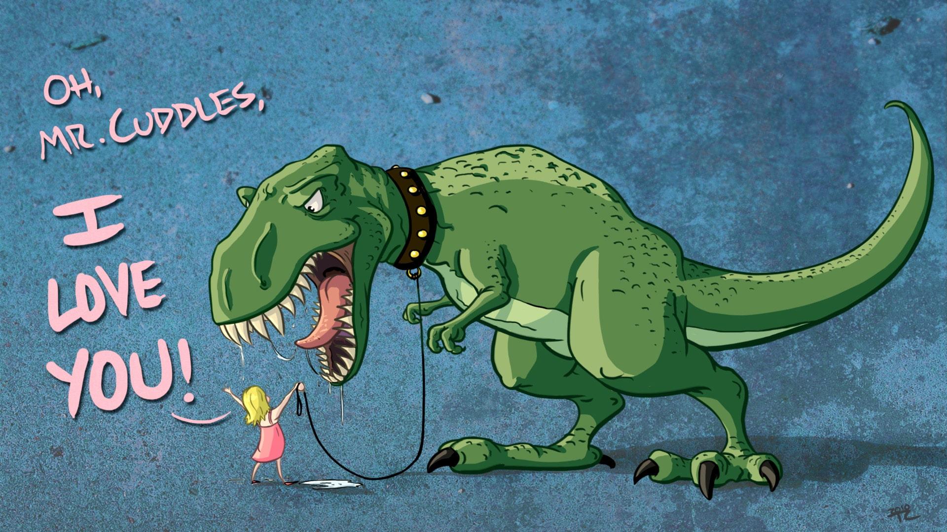 Mr Cuddles Desktop Dinosaur Wallpaper